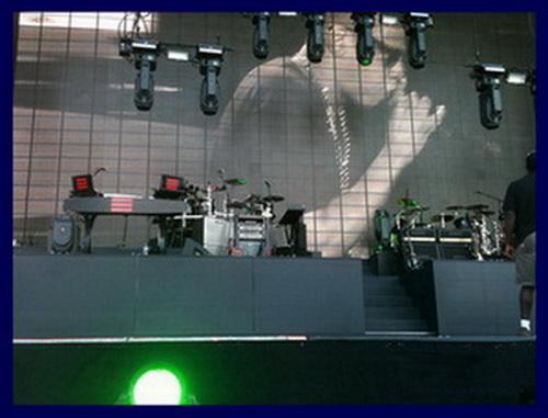 Detroit Comerica Stadium Bass And Guitar Rigs Jay-Z Eminem 2010