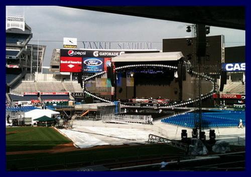 Jay-Z Yankee Stadium Stage 2010