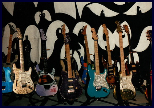 Dweezil Zappa and Frank Zappa Guitars at Joes Garage 1991