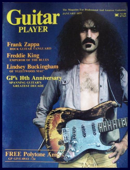 Frank Zappa Guitar Player Magazine Cover 1977