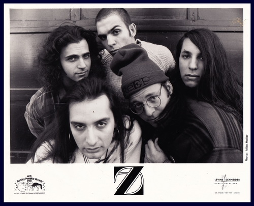 Z Promo Photo Dweezil Zappa, Ahmet Zappa, Mike Keneally, Brian Beller, and Joe Travers.