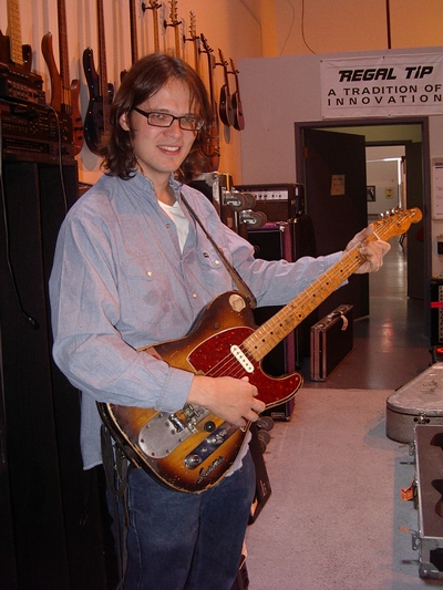 Luther Dickinson with the Marty Stuart Guitar