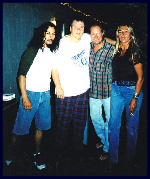 Damon La Scott, Meat Loaf, Dave Pops Clements and Linda Clements 2004.