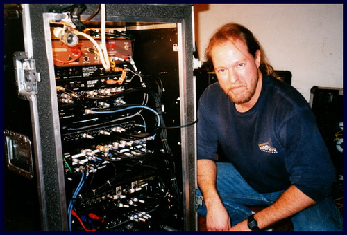 Dave Pops Clements custom wiring for Damon La Scott Guitar rig Meat Loaf World Tour.