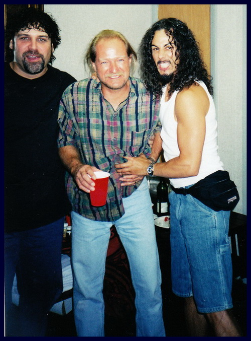Dave Pops Clements , John Miccelli, and Damon La Scott.