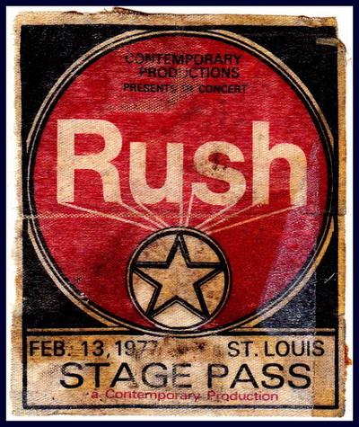 Rush Back StagePass 1977