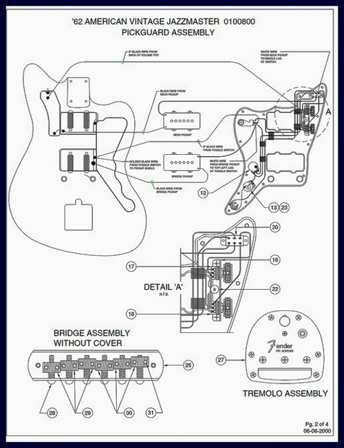 Fender 1962 Jazzmaster Wiring Diagram and Specs : on