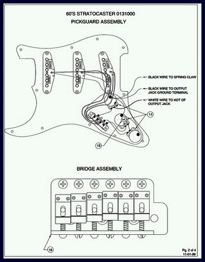 Fender 1960s Stratocaster Wiring Diagram And Specs